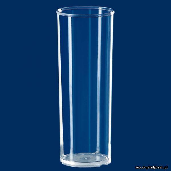 Plastikowa szklanka barowa PC 0,25 l litra - szkłopodobna / częściowo mrożona wielokrotnego użytku szkłopodobna szkłopodobne szkło podobne przeźroczysta przeźroczyste szklanki plastikowe częściowo mrożona