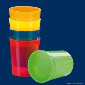 Kubek plastikowy kolorowy PP 0,25l Kubki plastikowe wielokrotnego użytku 0,25 litra