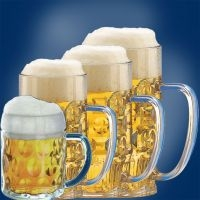 Plastikowe kufle i szklanki do piwa