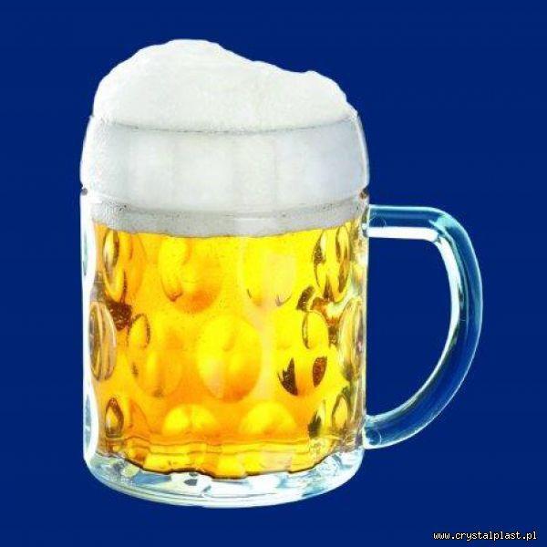 Plastikowy kufel do piwa z uchem uchwytem klasyczny 0,3l litra SAN - szkłopodobny szkłopodobne kufle plastikowe