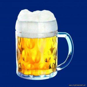 Plastikowy kufel do piwa z uchem uchwytem klasyczny 0,5l pół litra SAN - szkłopodobny szkłopodobne kufle plastikowe