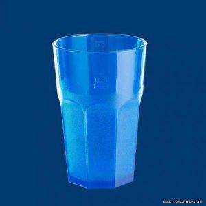 Plastikowa szklanka Caipirinha częściowo mrożona 0,3l SAN - niebieska niebieskie szklanki