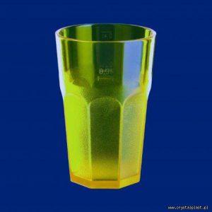 Plastikowa szklanka Caipirinha częściowo mrożona 0,3l SAN - żółta żółte szklanki