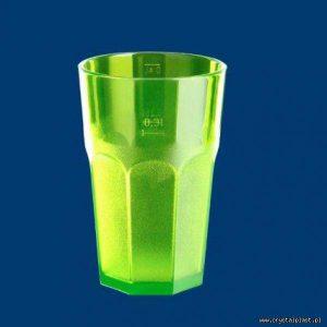 Plastikowa szklanka Caipirinha częściowo mrożona 0,3l SAN - zielona zielone szklanki