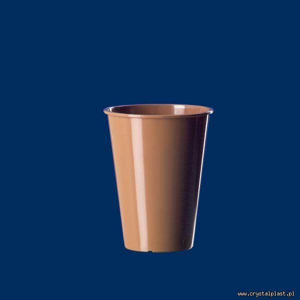 Kubek do kawy / herbaty 0,15l brązowy brązowe PP kubeczek kubki kubeczki degustacyjne