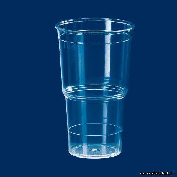 kubek eko 0,4 l litra PC szkłopodobna szkłopodobne szkło podobne przeźroczysta przeźroczyste kubki plastikowe