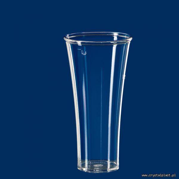 kubek elegancja 0,5 l pół litra PC szkłopodobna szkłopodobne szkło podobne przeźroczysta przeźroczyste kubki plastikowe