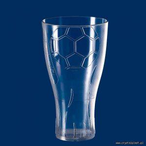 """Wysłano do Kubek """"Euro Cup"""" 0,5l pół litra SAN szkłopodobna szkłopodobne szkło podobne przeźroczysta przeźroczyste kubki plastikowe częściowo mrożony"""