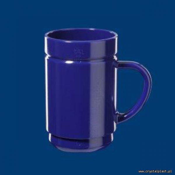Kubek wielorazowy z uchem uchwytem 0,25l litra SAN - niebieski