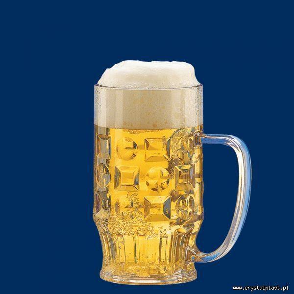 Plastikowy kufel do piwa z uchem uchwytem 0,4l litra SAN - szkłopodobny szkłopodobne kufle plastikowe