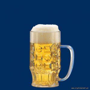 Plastikowy kufel do piwa z uchem uchwytem 0,3l litra SAN - szkłopodobny szkłopodobne kufle plastikowe
