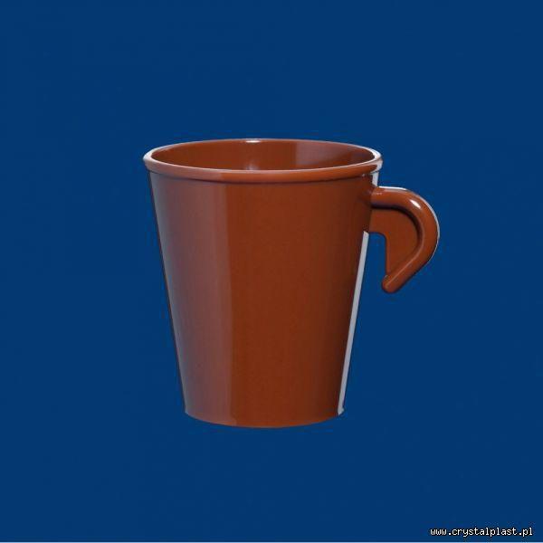 Filiżanka Espresso z uchem uchwytem 0,2l litra SAN brązowa do kawy