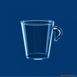Filiżanka Espresso z uchem uchwytem 0,1l litra SAN szkłopodobna przeźroczyta do kawy