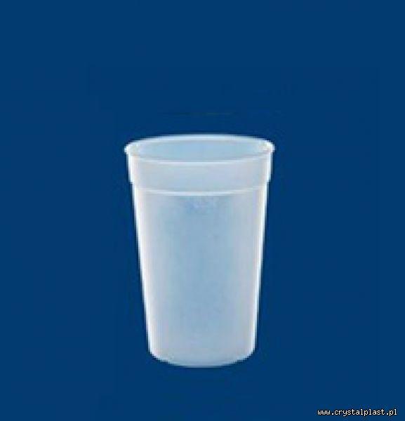Kubek mrożony 0,25l litra PC litra kubki mrożone kubeczki plastikowe