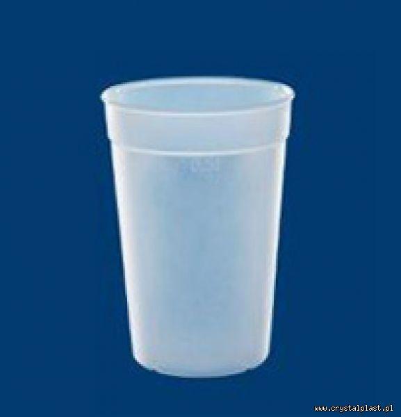 Kubek mrożony 0,4l litra PC litra kubki mrożone kubeczki plastikowe