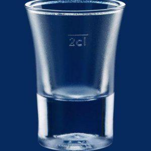 Plastikowy kieliszek do wódki 2cl 20ml 20 mililitrów 2 centylitry SAN - mrożony