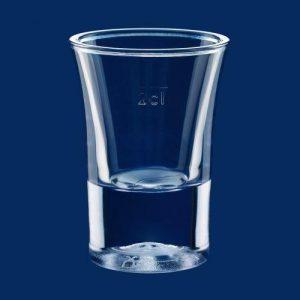 Plastikowy kieliszek do wódki 2cl 20ml 20 mililitrów 2 centylitry SAN - szkłopodobny przeźroczysty