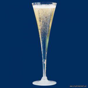 Kieliszek do szampana 0,1l litra PC- szkłopodobny przeźroczyste szkłopodobne kieliszki