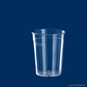 Kubek szkłopodobny 0,25l szkło podobny 0,25 litra PC litra kubki szkło podobne przeźroczysty