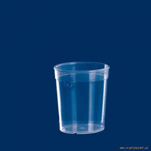 Plastikowy kubek transparentny PP 0,2l litra kubki plastikowe transparentne przeźroczyste
