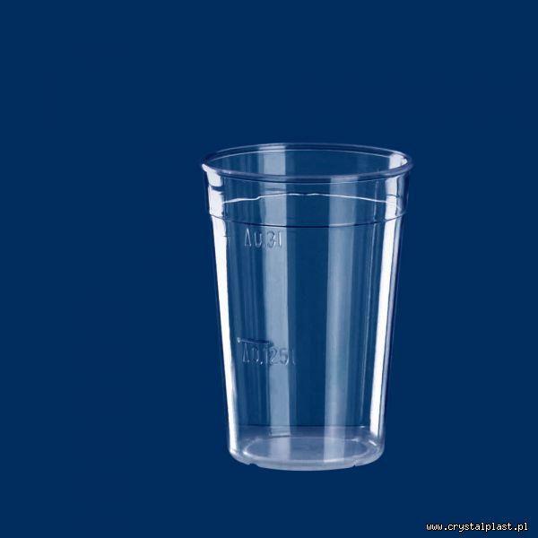 Kubek szkłopodobny 0,3l PC litra kubki szkło podobne przeźroczysty