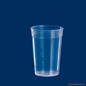 Plastikowy kubek transparentny PP 0,3l litra kubki plastikowe transparentne przeźroczyste