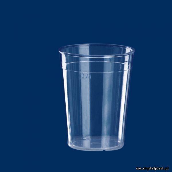 Kubek szkłopodobny 0,4l PC litra kubki szkło podobne przeźroczysty