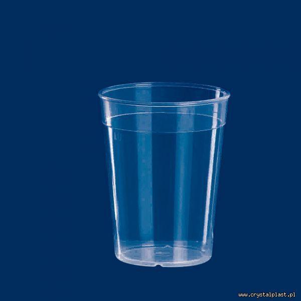 Plastikowy kubek transparentny PP 0,4l litra kubki plastikowe transparentne przeźroczyste
