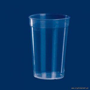Plastikowy kubek transparentny PP 0,5l pół litra kubki plastikowe transparentne przeźroczyste