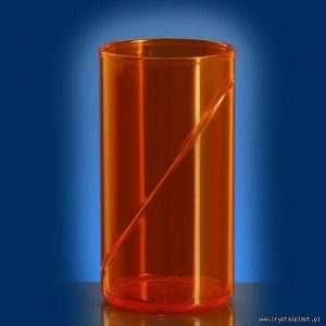 plastikowa szklanka 0,25 l litra SAN pomarańczowa pomarańczowe szklanki plastikowe