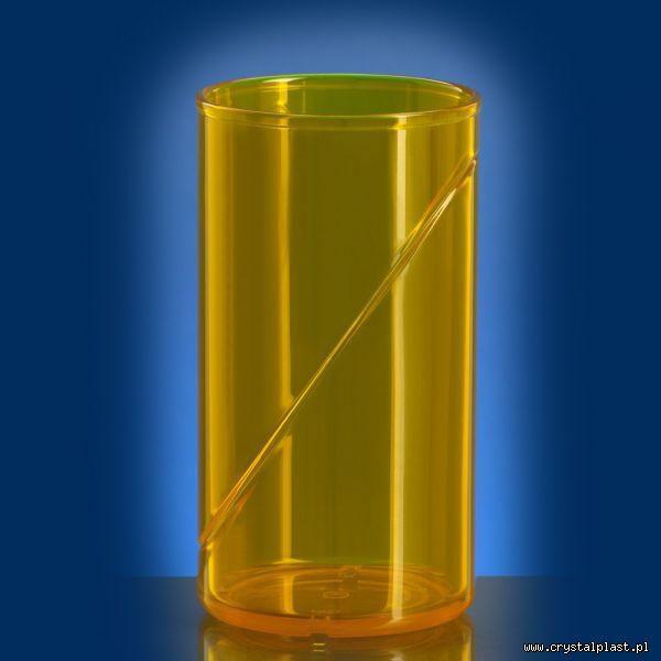 plastikowa szklanka 0,25 l litra SAN żółta żółte szklanki plastikowe