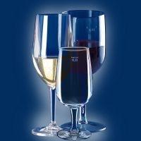 Plastikowe kieliszki do szampana i wina