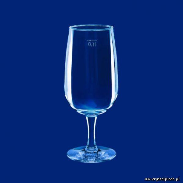Kieliszek do wina 0,1l litra SAN - szkłopodobny przeźroczyste szkłopodobne kieliszki