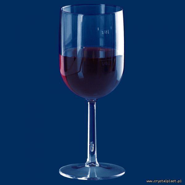 Kieliszek do wina 0,25 l 0,12 litra SAN - szkłopodobny przeźroczyste szkłopodobne kieliszki