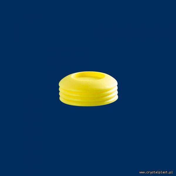 Plastikowa góra i dół 0,3l żółta PE Open Air Cup 0,3 l litra pokrywka pokrywki górna podstawka podstawki dolna do kubków kubka z otworem na słomkę słomka