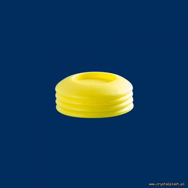Plastikowa góra i dół 0,35 żółta PE Open Air Cup 0,5 l litra pokrywka pokrywki górna podstawka podstawki dolna do kubków kubka z otworem na słomkę słomka